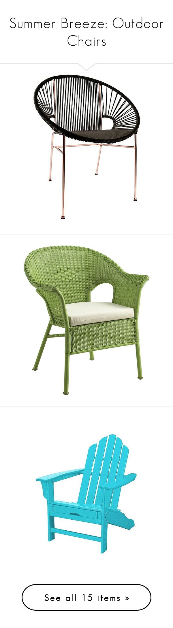 """""""Summer Breeze: Outdoor Chairs"""" by polyvore-editorial ❤ liked on Polyvore featuring outdoorchairs, home, outdoors, patio furniture, outdoor chairs, chair, black, innit, black patio furniture and black outdoor furniture"""