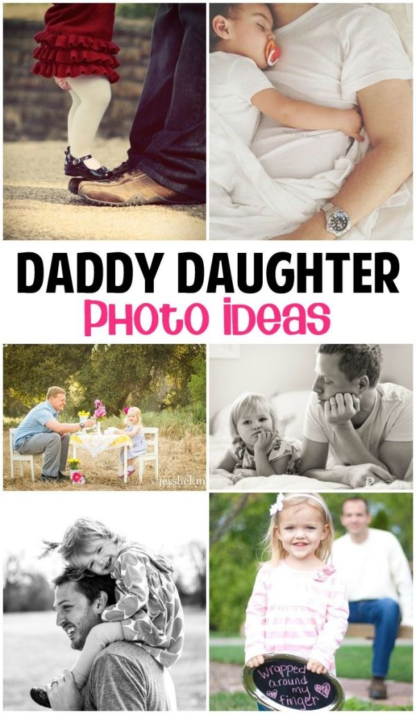These daddy daughter photos are so sweet! I can't wait to try some of them! by holly