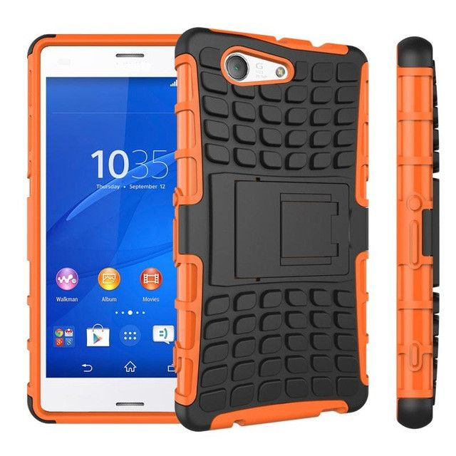 For Sony Xperia Z3 Compact Case Shickproof TPU & Plastic Case For Sony Xperia Z3 Compact Cover Z3 Mini D5803 With Phone Holder #