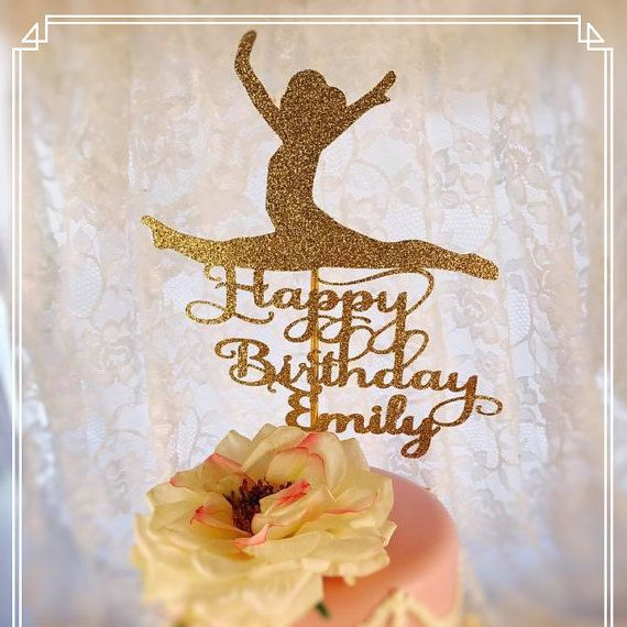 Gymnastics Cake Topper - Gymnastics Party Decorations - Gymnastics Party Decor - Gymnastics Party Centerpiece - Gymnastics Birthday Party