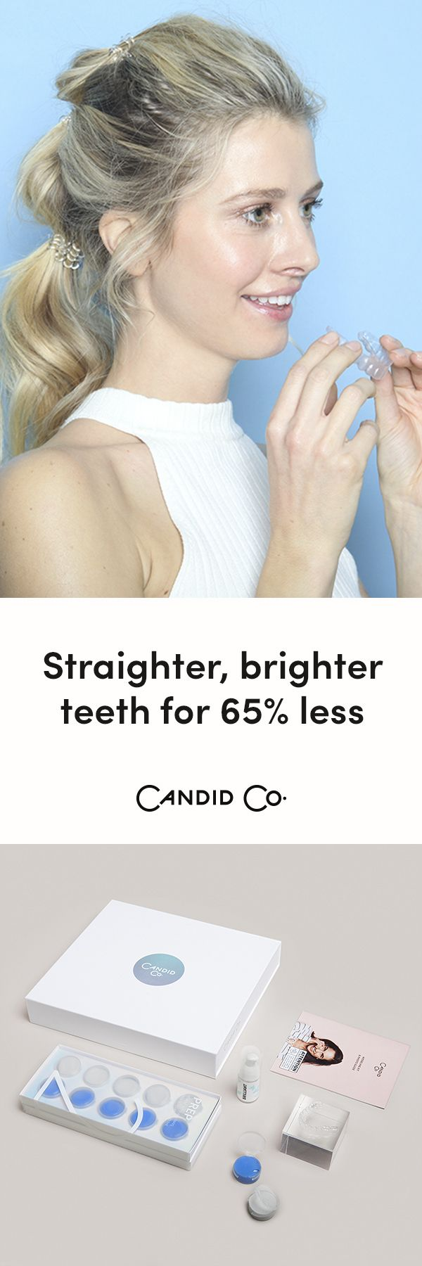 Get the straight teeth you've always wanted with Candid's clear aligners delivered directly to your door ... for 65% less than braces. Treatment time averages just 6 months ✨