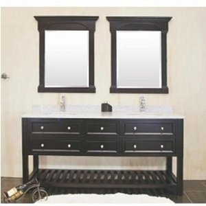 Awesome Seaside 24quot Bathroom Vanity With Open Bottom Shelf