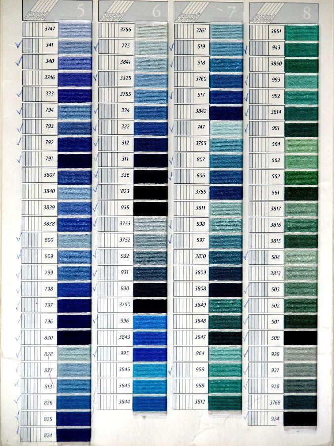 A DMC Color Card