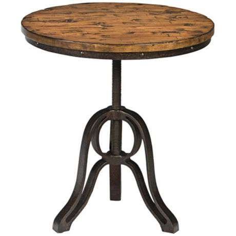 Cranfill Aged Pine Round Accent Table   Style # 2W208