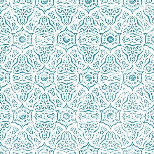 Papier peint intissé Marrakech bleu
