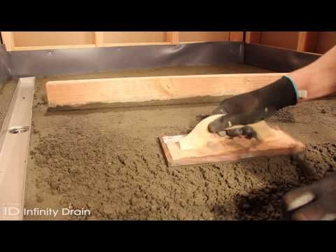StreamLine Linear Shower Drain Installation   Full Mortar And Thin Bed    YouTube