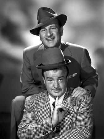 """Bud Abbott & Lou Costello. """"Now, on the St. Louis team we have Whos on first, Whats on second, Idontknow is on third."""" (Abott) . . .""""That's what I want to find out."""" (Costello)"""