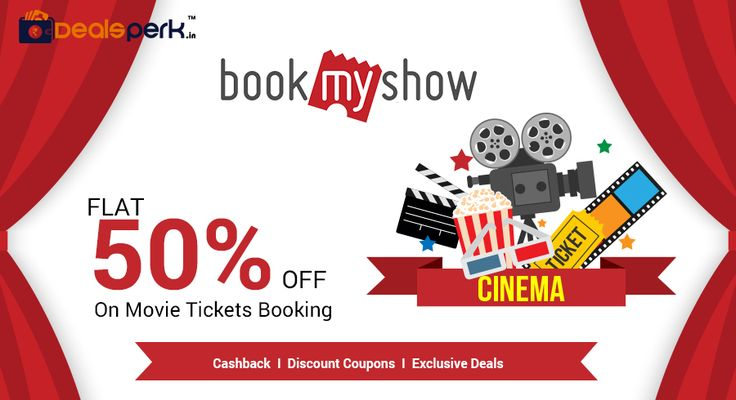 Get Flat 50% OFF on Movie Tickets Booking from BookMyShow. Avail maximum discount of Rs. 125. #Bahubali2 #Movie #TicketsBooking #BookMyShow #Coupon