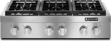 "JGCP436WP Jenn-Air 36"" Pro-Style® Gas Range Top - eclectic - cooktops - philadelphia - Mrs. G TV & Appliances"