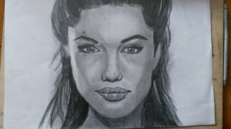 I draw Angelina Jolie