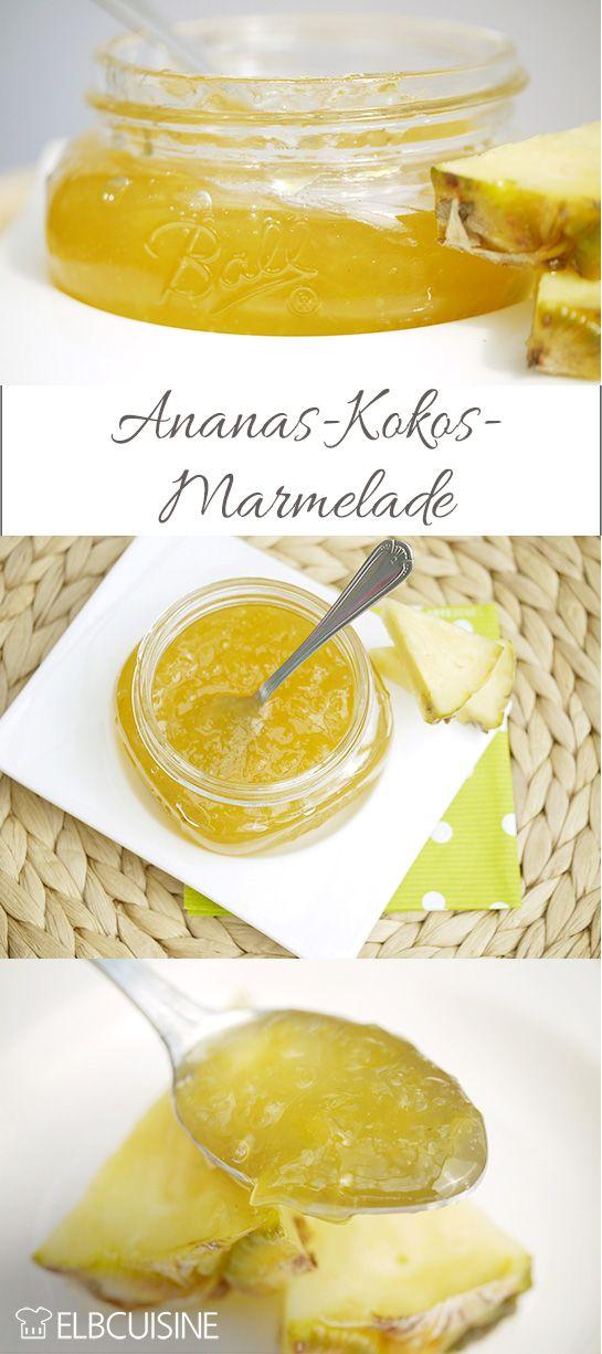 Zur Marmeladen- und Einkochzeit darf diese Marmelade nicht fehlen, auch wenn ihr sie eigentlich das ganze Jahr kochen könnt, weil Ananas eigentlich das ganze Jahr über Saison hat. Der Geschmack ist einfach wunderbar und etwas ganz neues auf der Zu ...