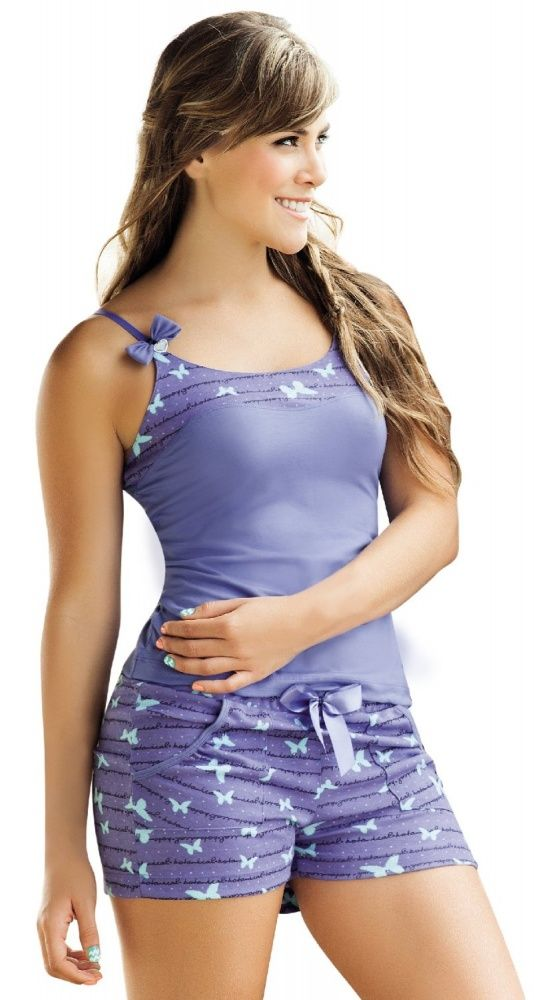 Women's #Fashion Clothing: #Pajamas and #Short Sets:  Laura Women's Purple and…