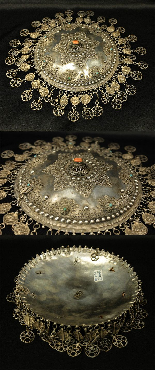 Ottoman silver gilt and coral bridal headpiece | 18th/19th century | 2,500$