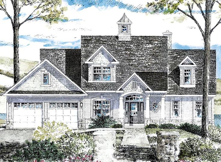 Cape cod cottage craftsman house plan 80314 house plans for Craftsman cape cod