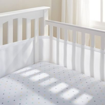 Mesh crib liner.  Apparently the usual crib bumpers are a huge no-no these days.  I have so much to re-learn!