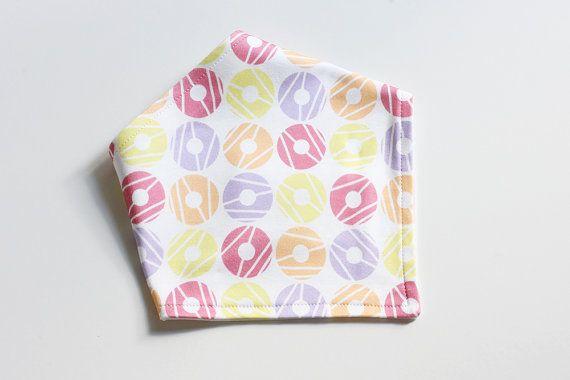 Organic Cotton Baby Bandana Bib  Party Rings  Adjustable by raenne, $14.00