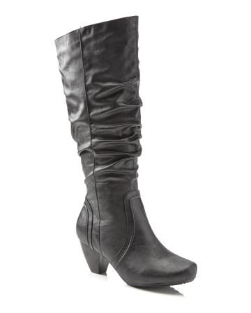Ruched High Heel Boot | Addition Elle