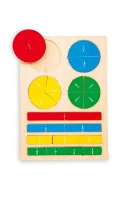 Drevené hračky - Školské pomôcky - RaKonrad Puzzle zlomky