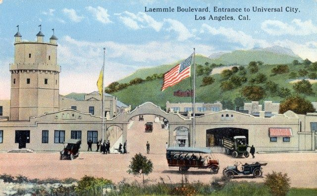 Entrance to Universal Studios from Carl Laemmle Boulevard, circa 1910s