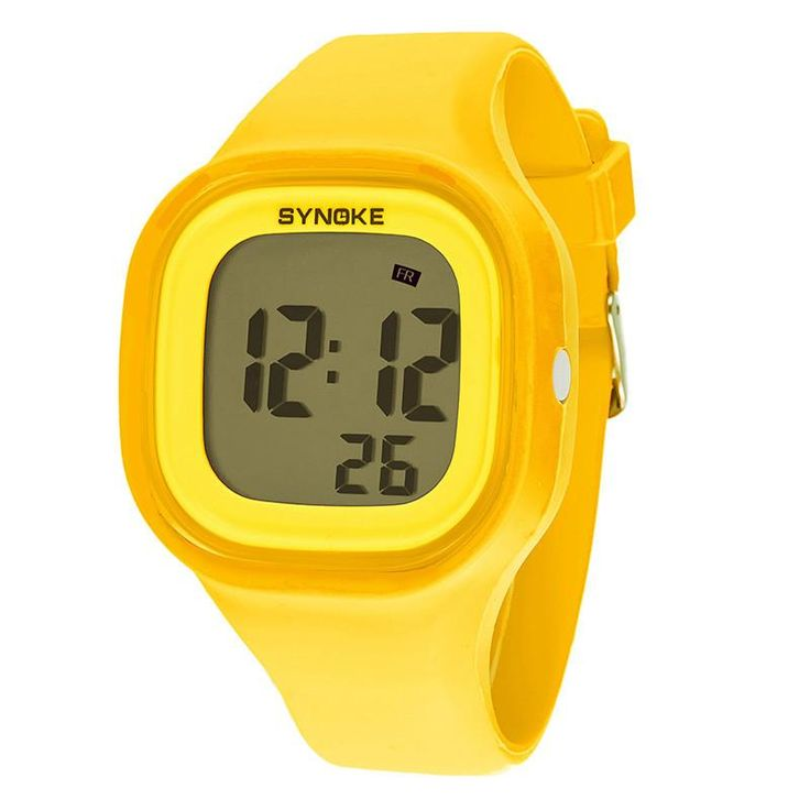 $17.95 women digital Silicone sport wristwatch Fashion ladies Square waterproof led Watch top quality girl stopwatch clock silicone - Women's Watches $17.95