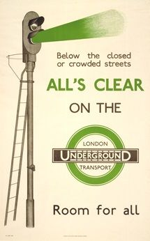 All's clear on the London Underground - unknown artist (1935)