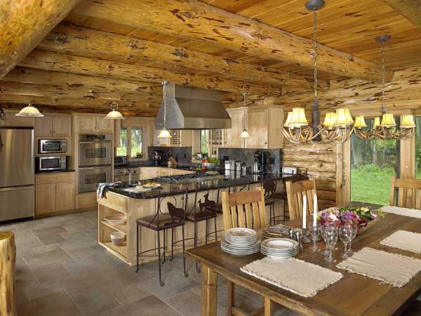 14 best images about dark counter tops on pinterest for Stili di log cabin