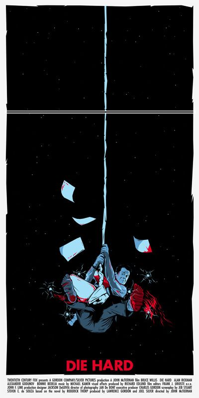 Alternative Movie Poster for Die Hard by Dan Sherratt
