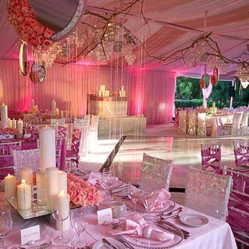 Pink themed wedding midway media pink wedding theme table dressing pinterest junglespirit Gallery
