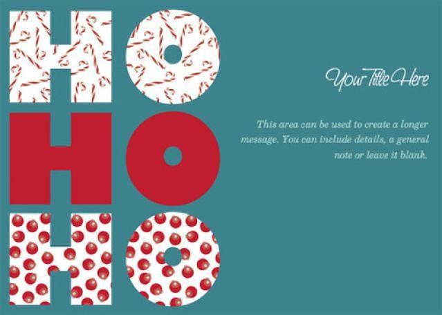 Christmas Ecards for Free: Ho Ho Ho by Celebrations