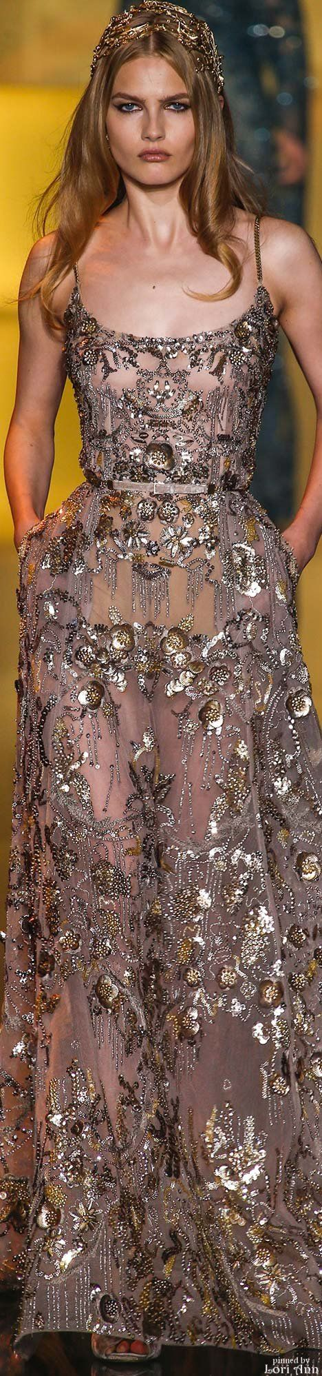 Elie Saab Couture Fall 2015 #fashion#hautecouture #details #runway #model #gorgeous #gown