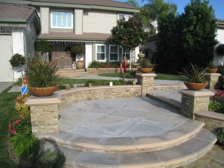 95 best front and back patio images on pinterest   curb appeal ... - Front Yard Patio Ideas