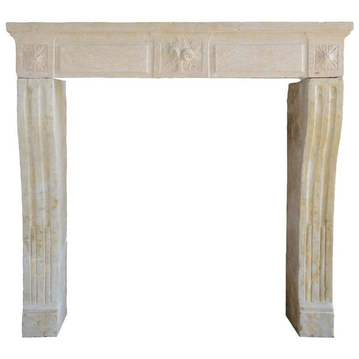 French Louis the 16th period limestone fireplace - 18th century