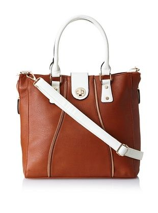 38% OFF Nila Anthony Women's Large Zipper Tote, Brown