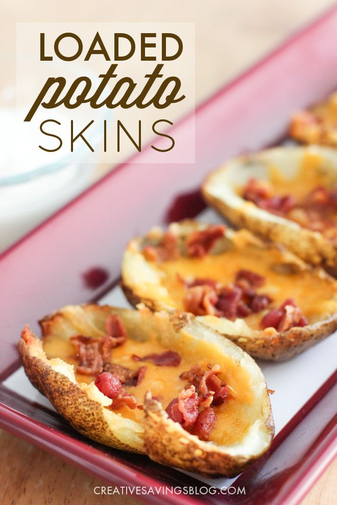 Make your own version of T.G.I. Fridays Loaded Potato Skins with this easy copycat recipe. Your party guests will love the crispy coating and cheesy center, making them the perfect savory snack to serve at your next get-together!