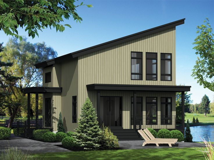 072h 0211 modern vacation house plan 1165 sf