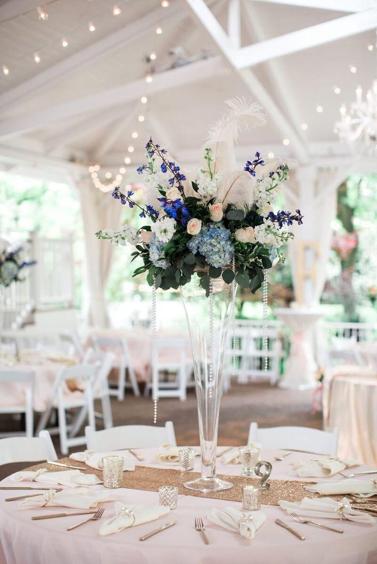 Gatsby Themed Garden Wedding - Tall centerpiece