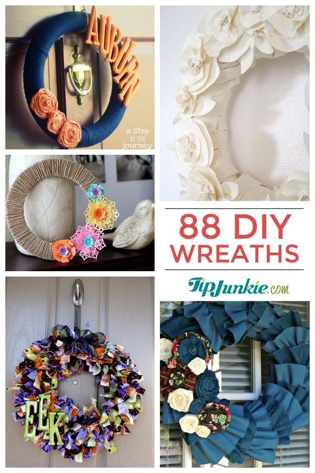 88 Beautiful Wreaths To Make! {free patterns}