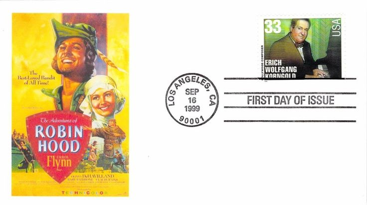 1999 Hollywood Composers First Day Cover - Erich Wolfgang Korngold