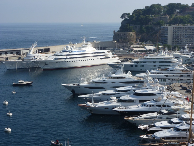 Lady Moura is a private superyacht. It was the 9th largest private yacht in the world when it was launched in 1990. Photo taken in Monaco May 2011.