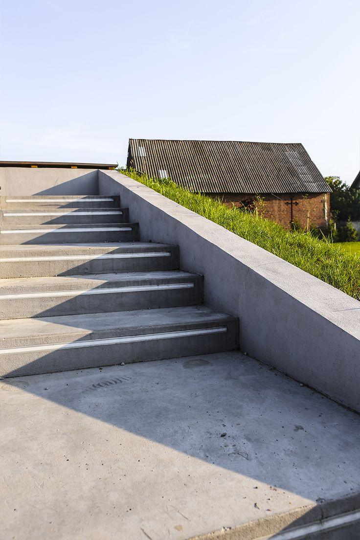#Architektura w #KazimierzBiskupi - #park. #Widownia #amfiteatru. // #Architecture in Kaziemierz Biskupi, #Poland - #park.