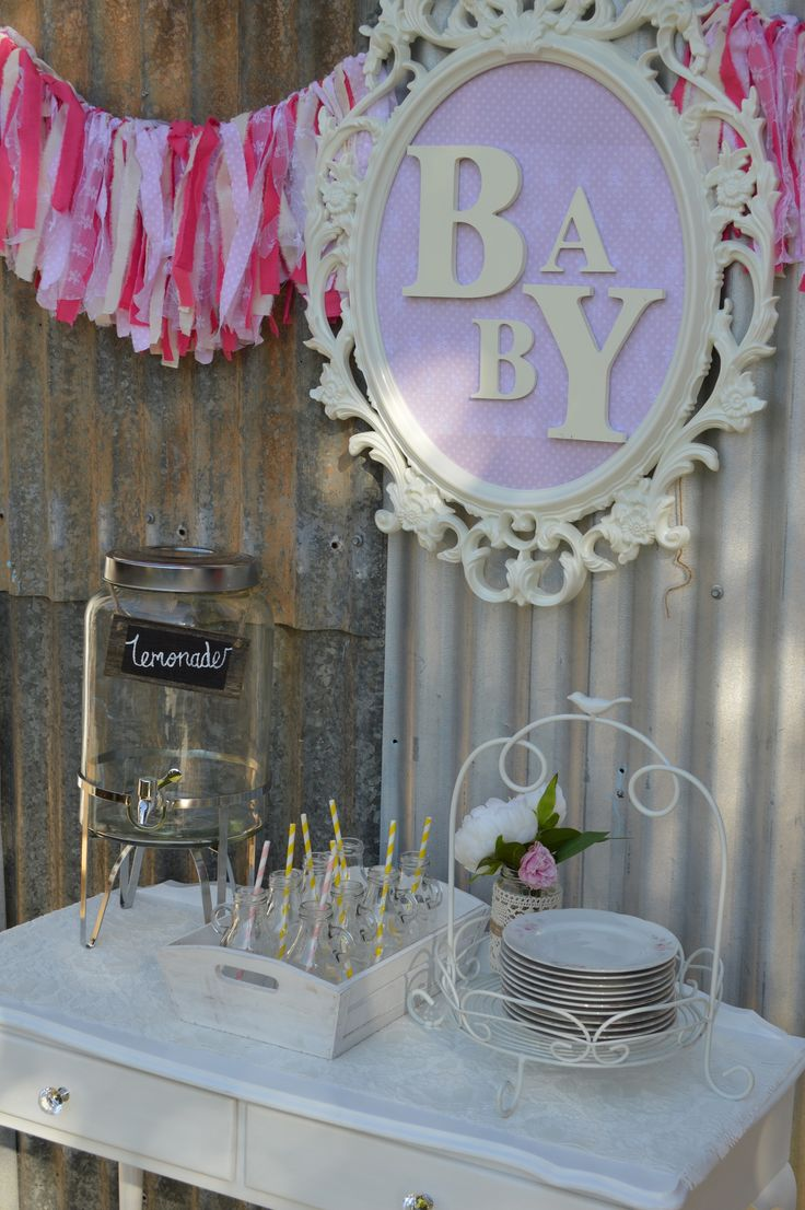 PRETTY IN PINK Baby Drink & Sweets Table