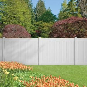 Veranda Pro Series 6 ft. x 8 ft. Vinyl Dover White Fence Panel-141569 at The Home Depot Have them to install it