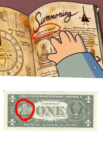 THIS EXPLAINS BILL SO MUCH! HE'S CALLED BILL BECAUSE HE'S THE TOP OF THE PYRAMID THAT'S FLOATING AWAY ON THE DOLLAR BILL! OMGOMGOMGOMG!!!!!!!