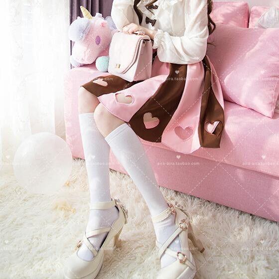 Kawaii sweet bow long-sleeved shirt/skirt SE7142