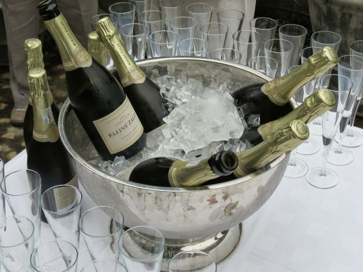 Bottles on ice! Our very first & brand new MCC chilling on ice at the picnic launch event.