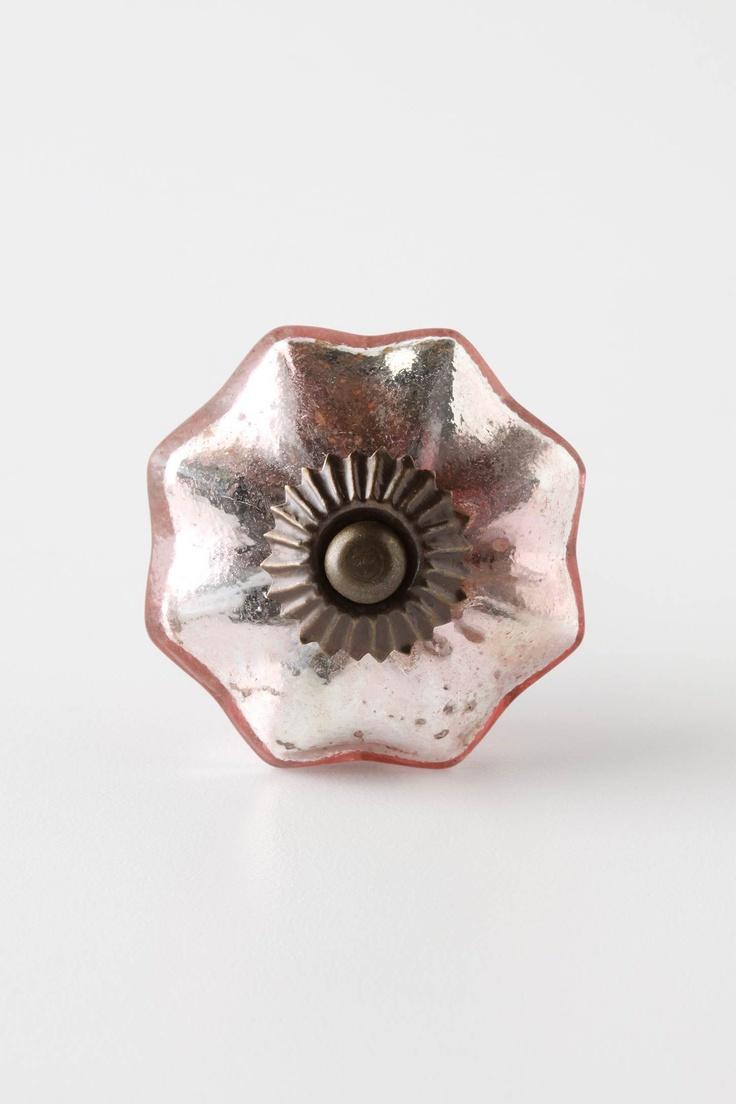 145 best pink glass knobs images on Pinterest | Lever door handles ...