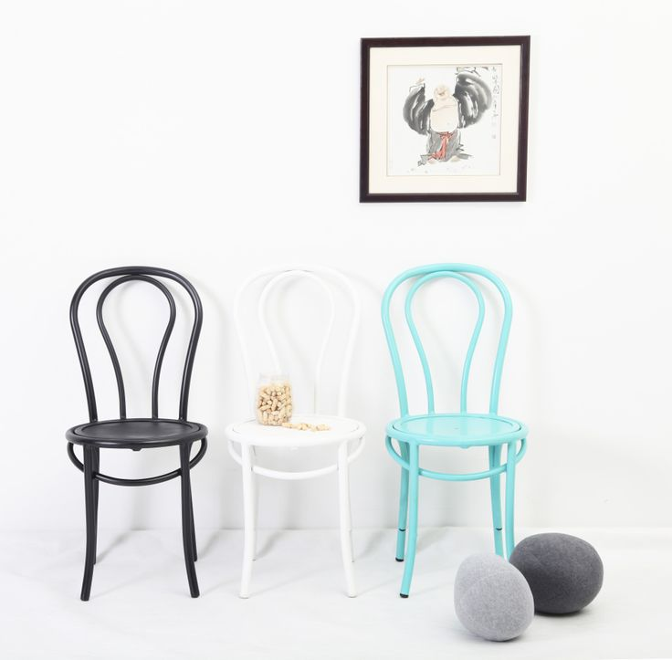 Available in 4 beautiful colours of White, Black, Teal and Brown, our Bentwood Chairs will look absolutely fabulous indoors OR out... That's right- these lightweight aluminium chairs are 100% suitable for the great outdoors.  Yippppeeee.