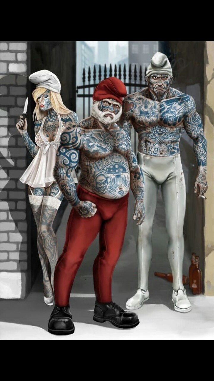 Smurfs or Tatted G's homie