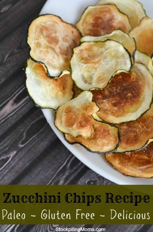 I love these Zucchini Chips.  They are a delicious gluten free and paleo snack!