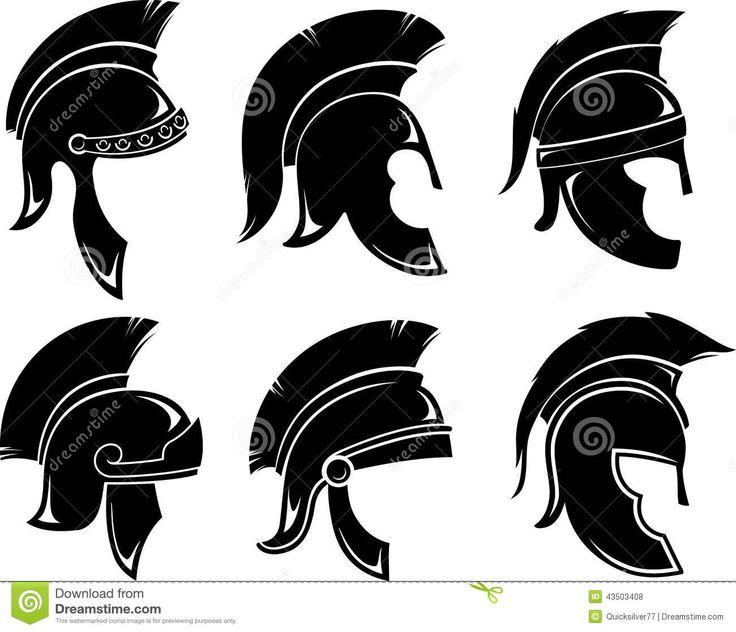 Trojan Helmet Set Stock Illustration - Image: 43503408